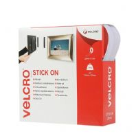 VELCRO® Brand Stick On Tape - 20mm x 10m White